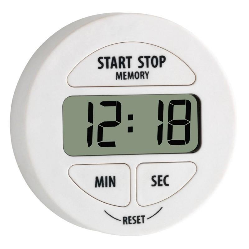 Timer digital pentru bucatarie Tfa, 55 x 17 x 55 mm, plastic/cauciuc, cronometru, suport magnetic, Alb 2021 shopu.ro