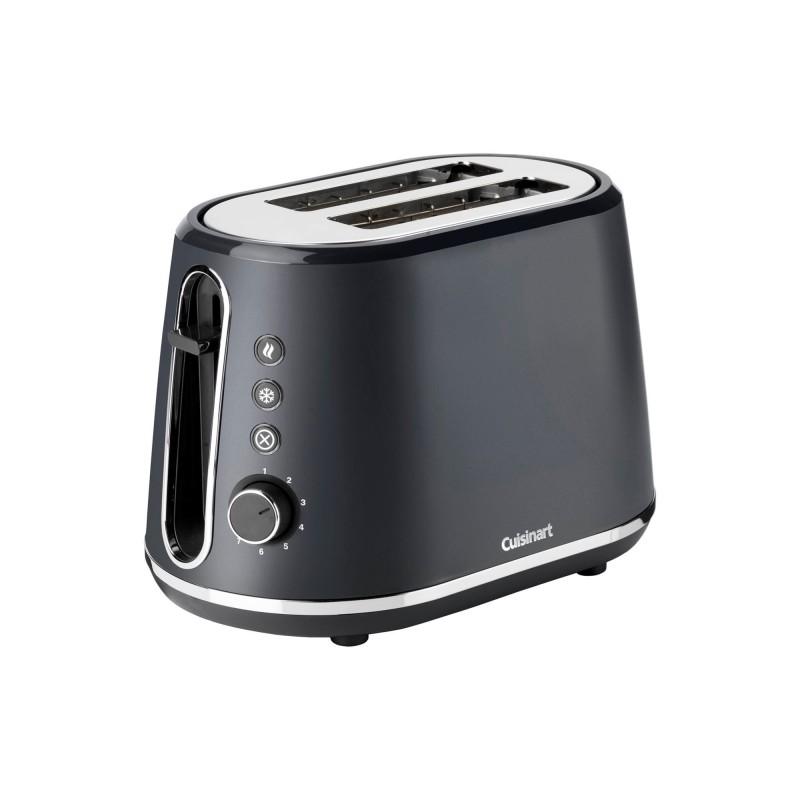 Toaster Cuisinart, 900 W, 7 setari rumenire, 2 felii, plastic, Charcoal Grey 2021 shopu.ro