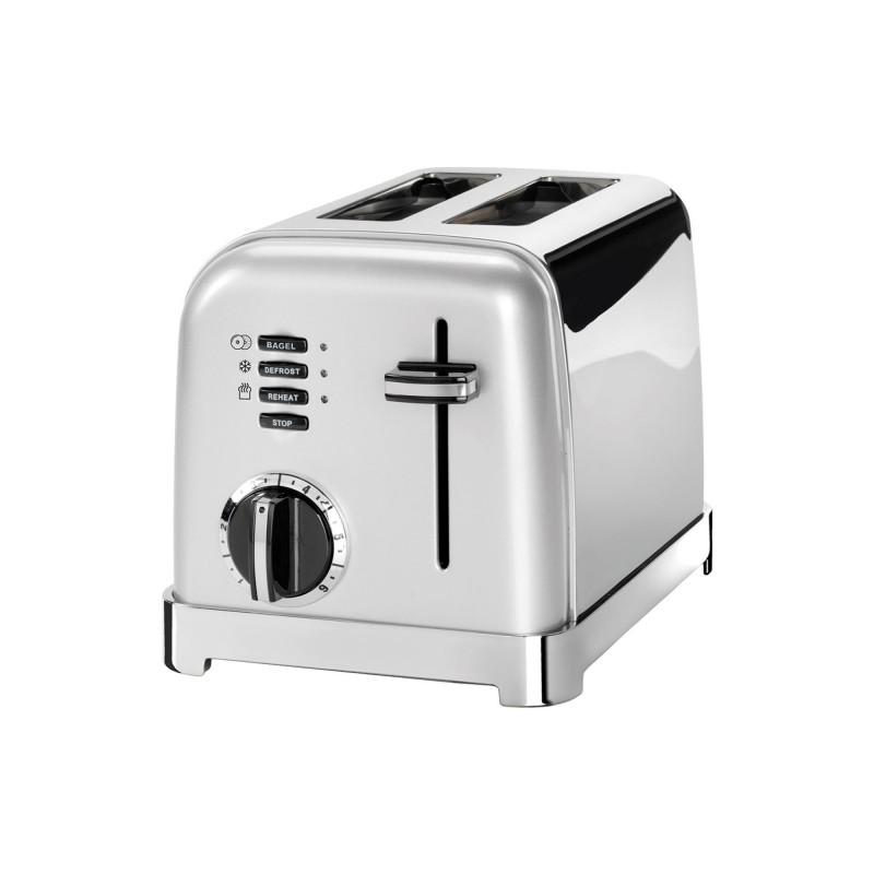Toaster Cuisinart, 900 W, 6 setari rumenire, 2 felii, otel inoxidabil, Pearl Grey 2021 shopu.ro