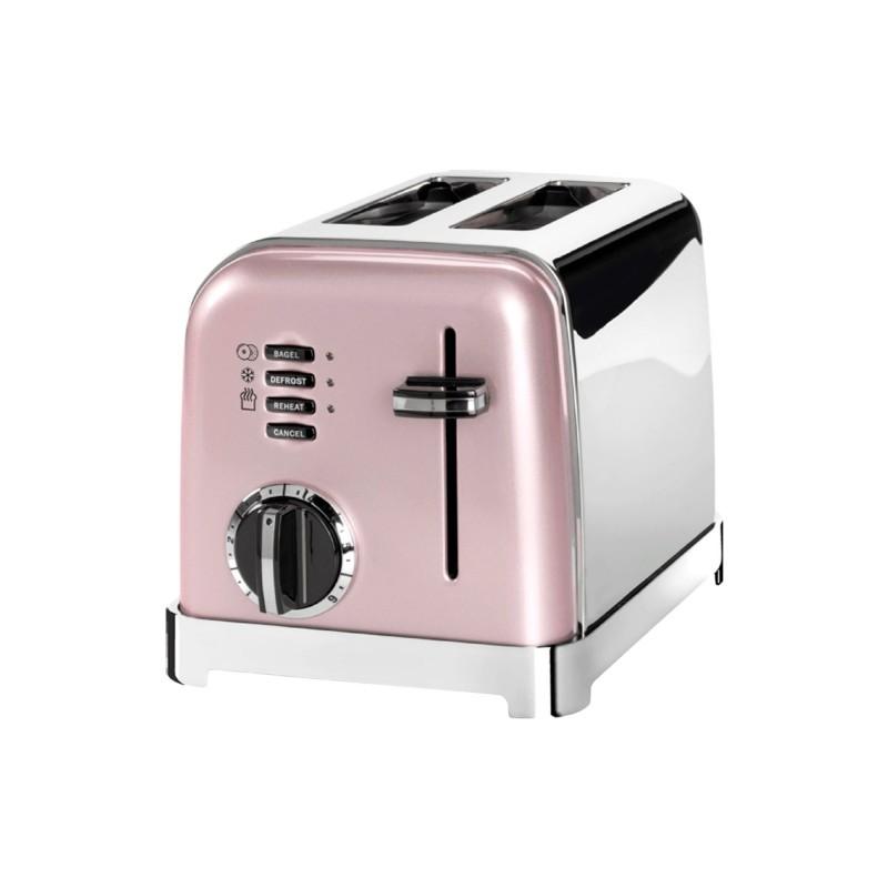 Toaster Cuisinart, 900W, 6 setari rumenier, 2 felii, otel inoxidabil, Rose 2021 shopu.ro