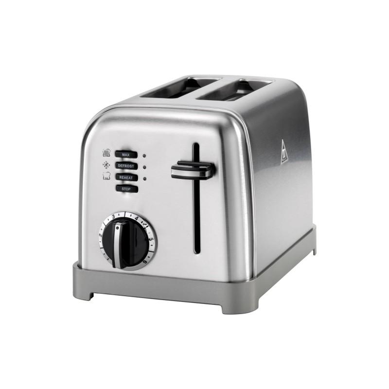 Toaster Cuisinart, 900 W, 6 setari rumenire, 2 felii, otel inoxidabil, Silver 2021 shopu.ro