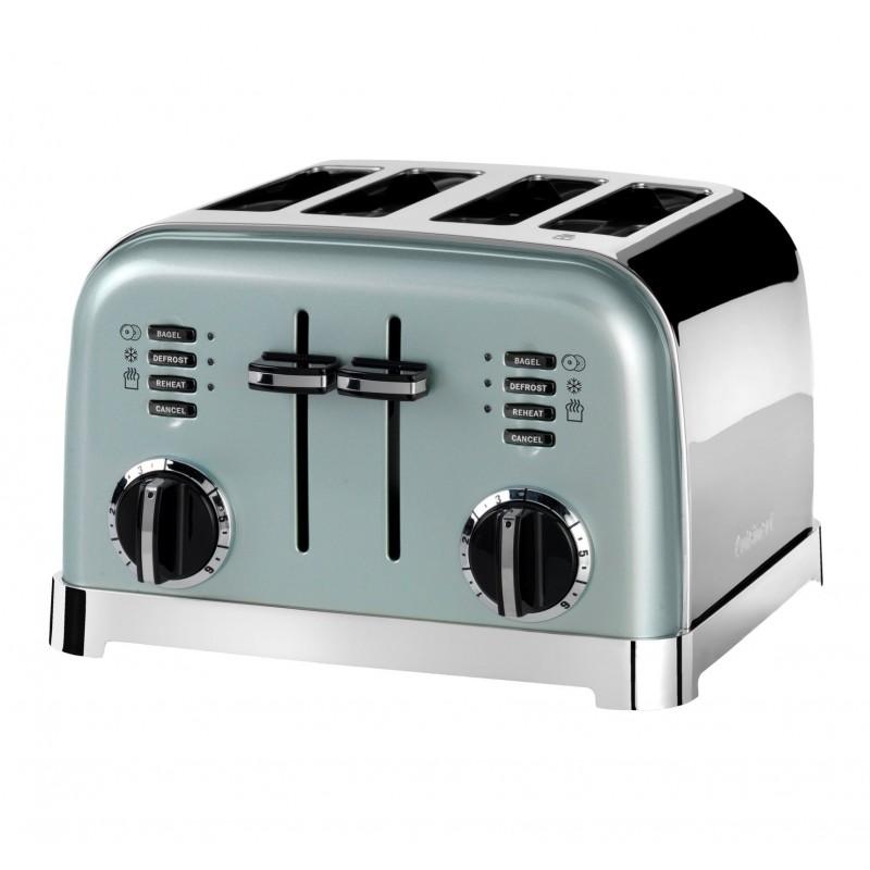 Toaster Cuisinart, 1800W, 6 setari rumenire, 4 felii, otel inoxidabil, Pistachio 2021 shopu.ro