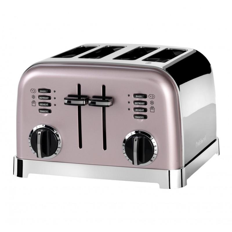 Toaster Cuisinart, 1800 W, 6 setari rumenire, 4 felii, otel inoxidabil, Rose 2021 shopu.ro