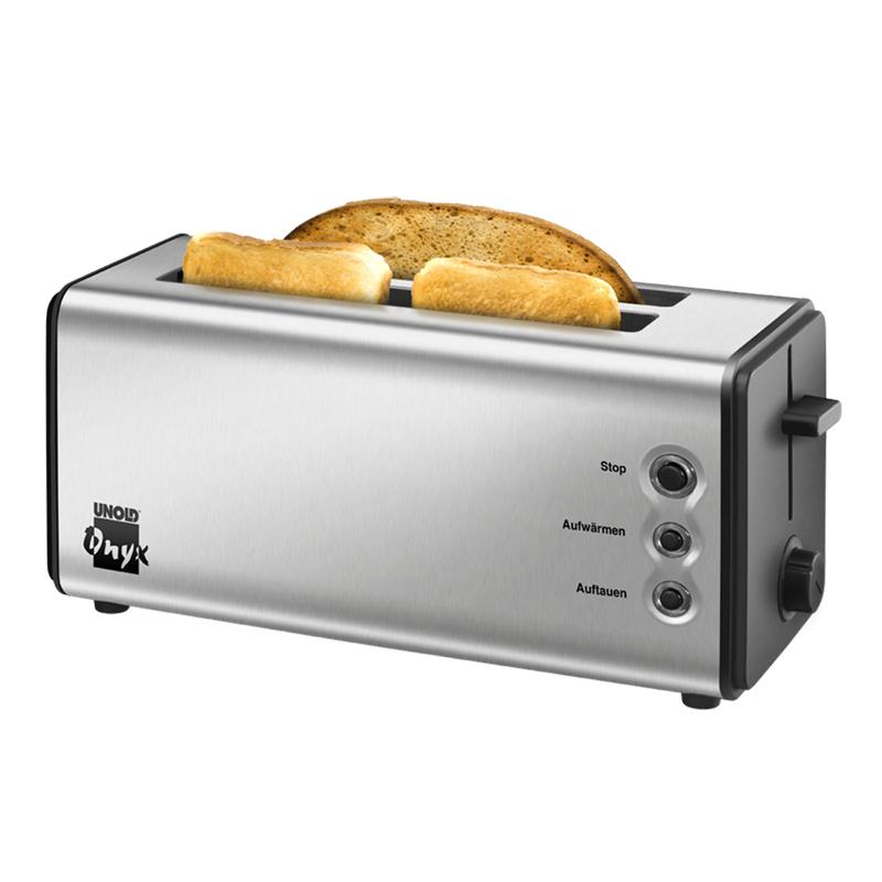 Toaster Onyx Duplex Unold, 1400 W, tavita detasabila, 4 felii, accesorii incluse, Argintiu 2021 shopu.ro