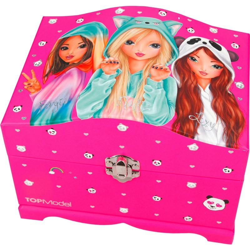Cutie bijuterii cu luminite Roz Depesche, Roz