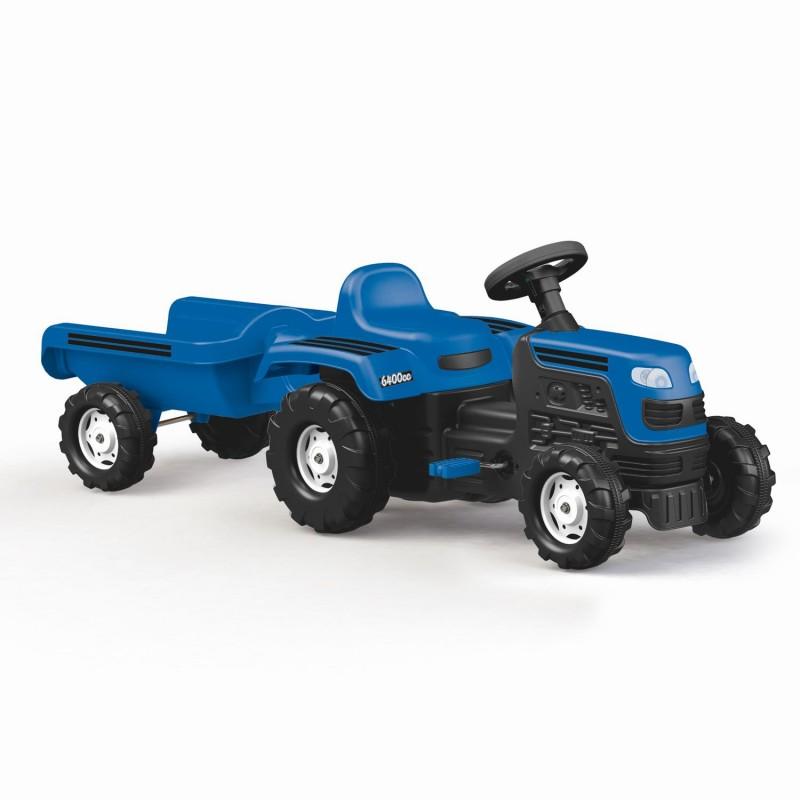 Tractor cu remorca incapatoare, 52 x 144 x 45 cm, maxim 35 kg, Albastru 2021 shopu.ro