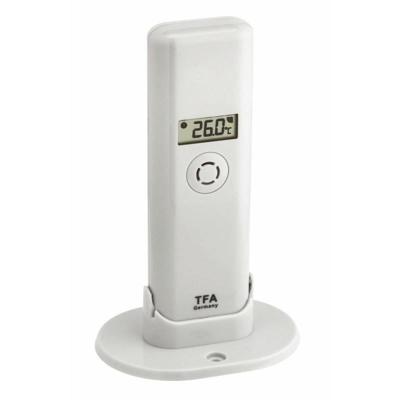 Transmitator wireless pentru temperatura/umiditate TFA, raza actiune 200 m, digital, Alb 2021 shopu.ro
