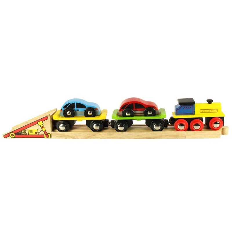 Trenulet cu platforma auto, sistem de prindere pe baza de magneti, 30 cm lungime 2021 shopu.ro