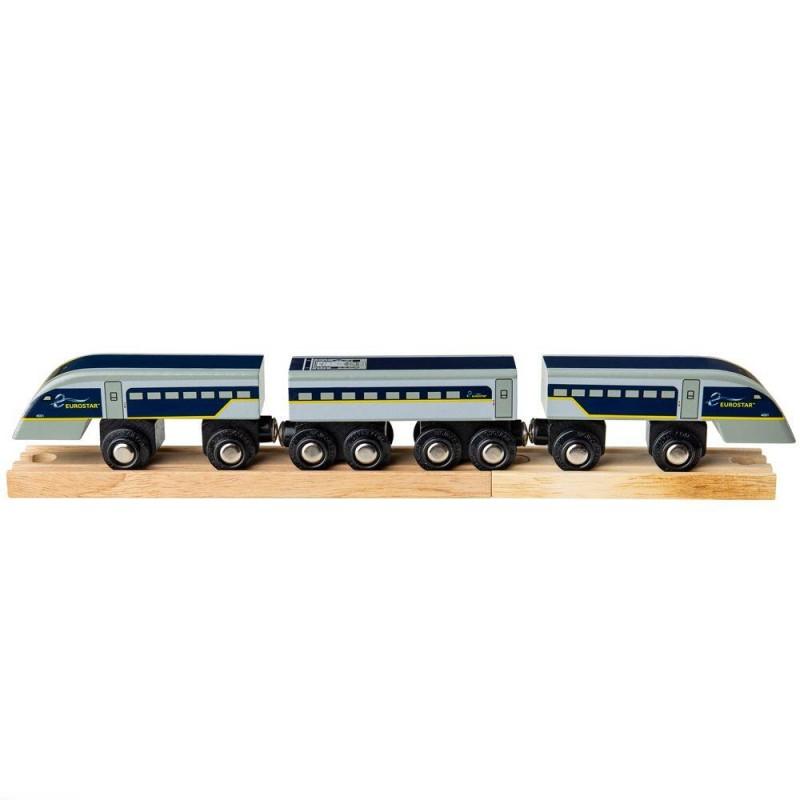 Trenulet Eurostar e320 BigJigs, 34.4 x 4.7 x 3.3 cm, 3 ani+ 2021 shopu.ro