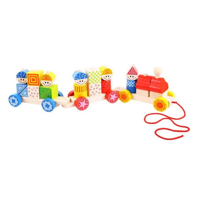 Trenuletul colorat cu forme BigJigs, piese mari, 1-3 ani