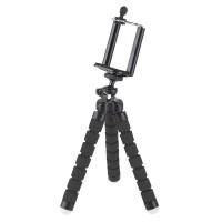 Trepied M-life pentru Telefon si Camera Sport, picioare flexibile, Negru