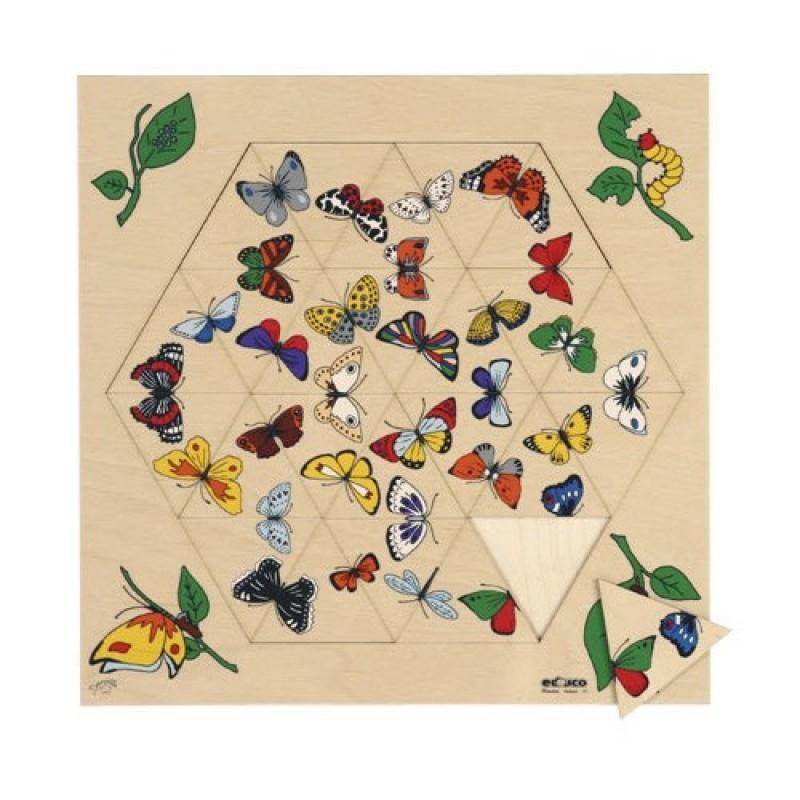 Puzzle Triama Educo, 24 piese, 34 x 34 cm, rama lemn, 3 ani+ 2021 shopu.ro