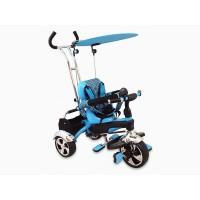 Tricicleta Baby Mix, 80 x 50 cm, prindere in 5 puncte, maxim 30 kg, 18 luni+, Albastru