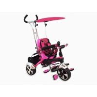 Tricicleta Baby Mix, 80 x 50 cm, prindere in 5 puncte, maxim 30 kg, 18 luni+, Roz