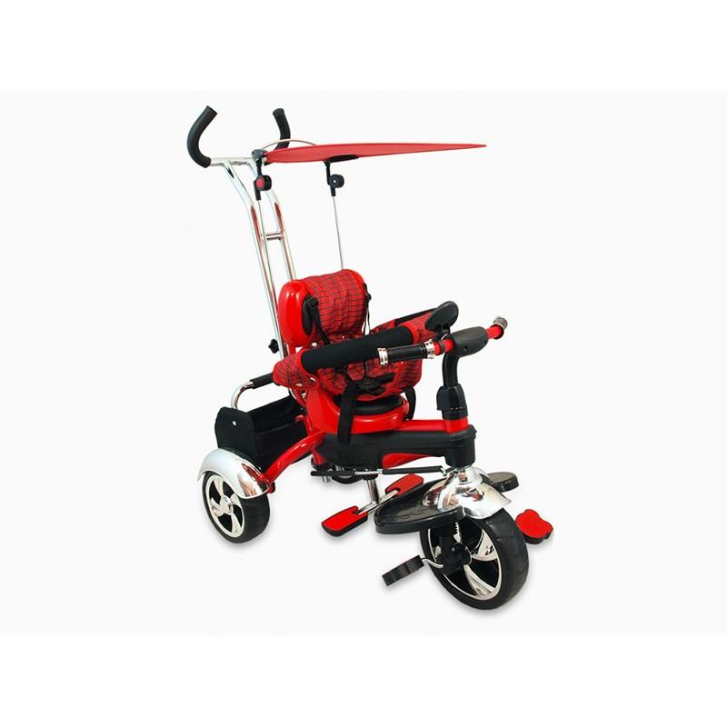 Tricicleta Baby Mix, 80 x 50 cm, prindere in 5 puncte, maxim 30 kg, 18 luni+, Rosu 2021 shopu.ro