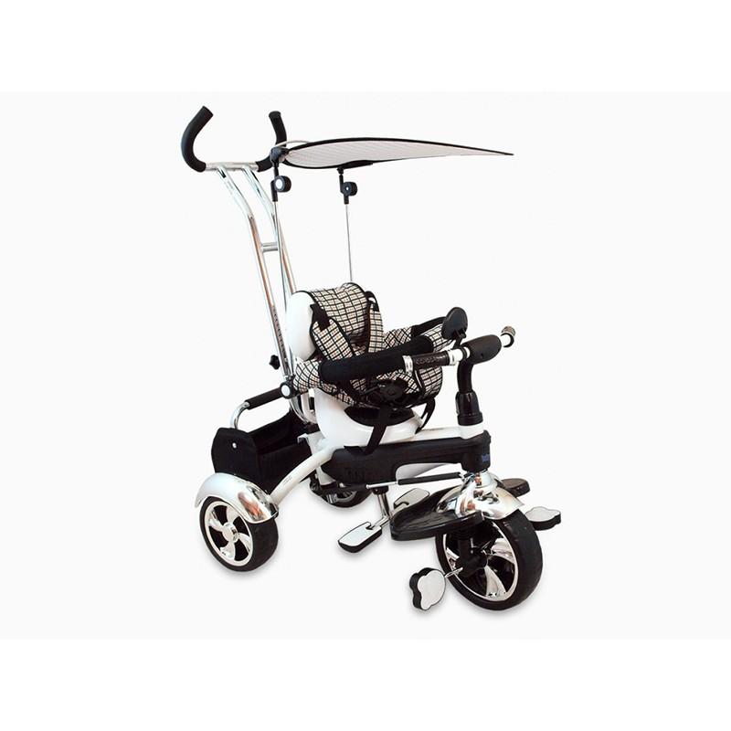 Tricicleta Baby Mix, 80 x 50 cm, prindere in 5 puncte, maxim 30 kg, 18 luni+, Alb 2021 shopu.ro