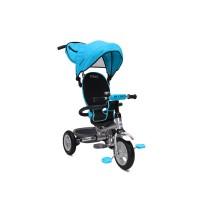 Tricicleta Flexy Plus Moni, 100 x 59 x 101 cm, gentuta inclusa, maxim 30 kg, 3 - 6 ani, Albastru