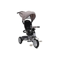 Tricicleta Flexy Plus Moni, 100 x 59 x 101 cm, gentuta inclusa, maxim 30 kg, 3 - 6 ani, Bej