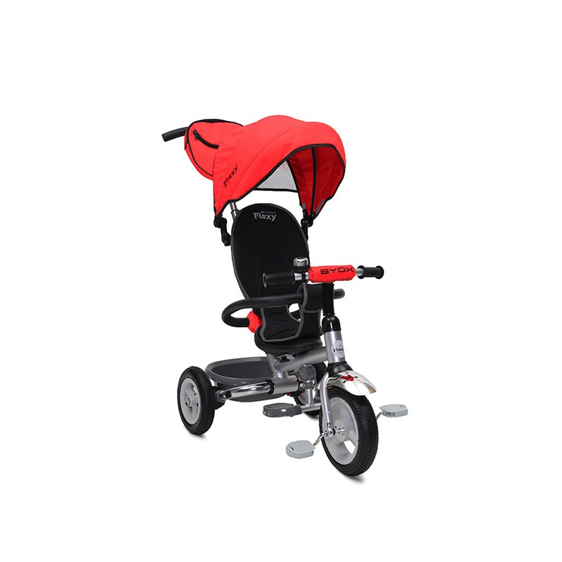 Tricicleta Flexy Plus Moni, 100 x 59 x 101 cm, gentuta inclusa, maxim 30 kg, 3 - 6 ani, Rosu 2021 shopu.ro