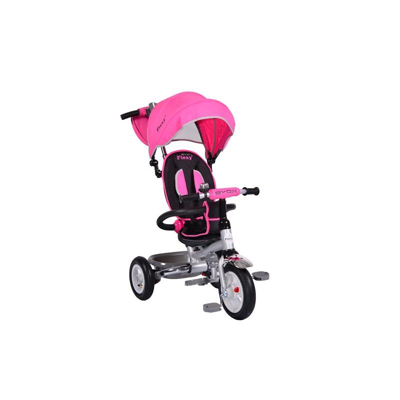 Tricicleta Flexy Plus Moni, 100 x 59 x 101 cm, gentuta inclusa, maxim 30 kg, 3 - 6 ani, Roz 2021 shopu.ro