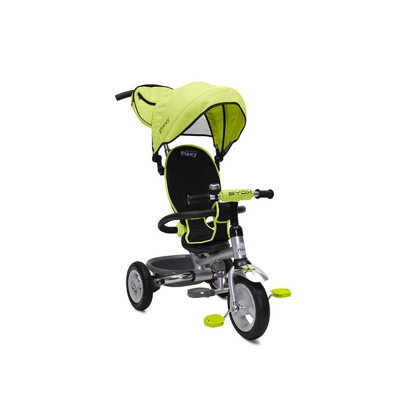 Tricicleta Flexy Plus Moni, 100 x 59 x 101 cm, gentuta inclusa, maxim 30 kg, 3 - 6 ani, Verde 2021 shopu.ro