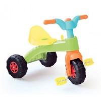 Tricicleta pentru copii Dolu Pastel, pedale pe roata din fata, claxon