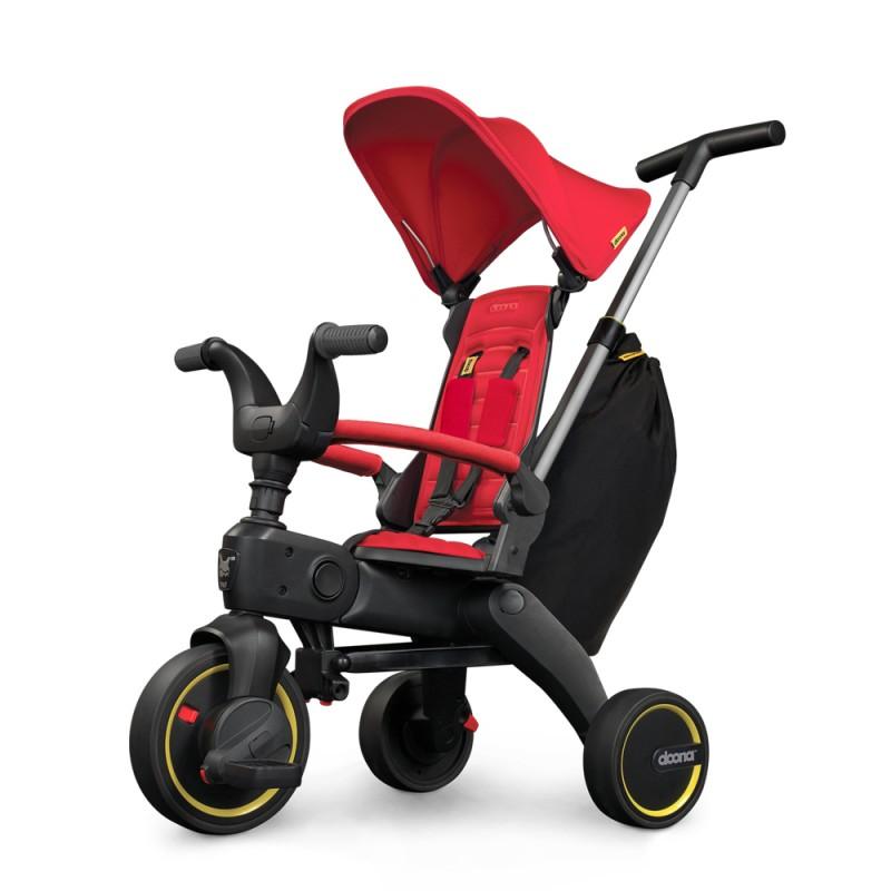 Tricicleta Liki Trike Flame Red Doona, centura prindere, pedale detasabile, 10 luni+ 2021 shopu.ro