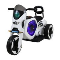 Tricicleta electrica DHS, 25 W, 4.5 Ah, roti poliuretan, maxim 25 kg, Alb/Negru