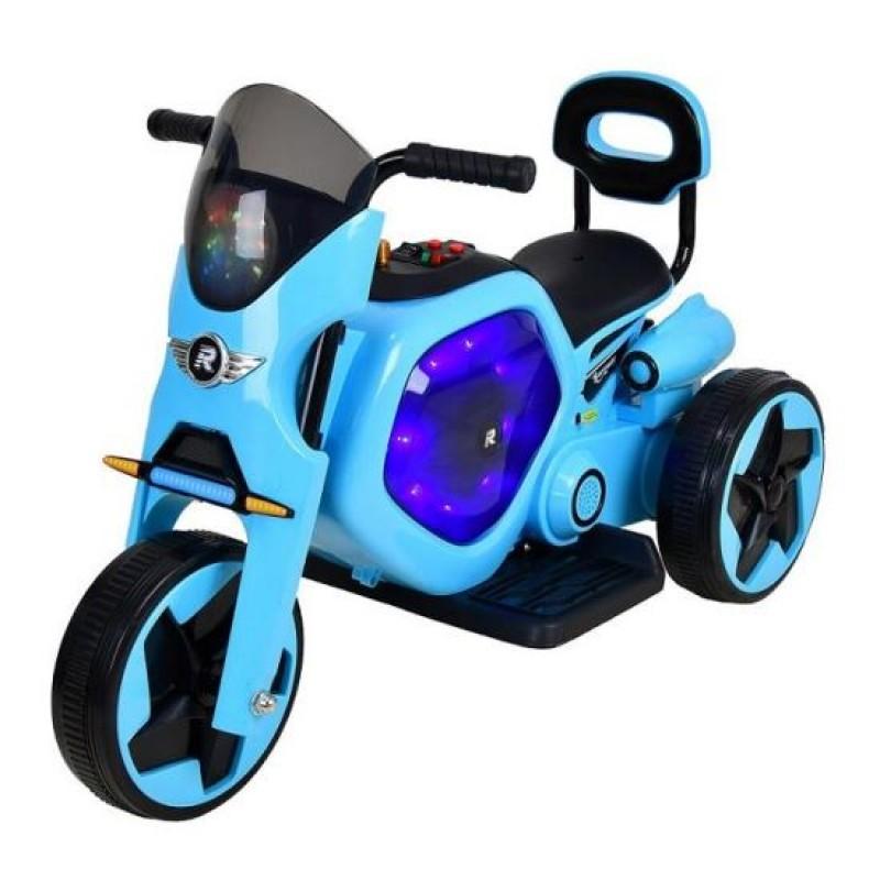 Tricicleta electrica DHS, 25 W, 4.5 Ah, roti poliuretan, maxim 25 kg, Albastru 2021 shopu.ro