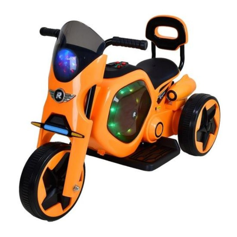 Tricicleta electrica DHS, 25 W, 4.5 Ah, roti poliuretan, maxim 25 kg, Portocaliu 2021 shopu.ro
