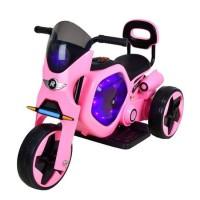 Tricicleta electrica DHS, 25 W, 4.5 Ah, roti poliuretan, maxim 25 kg, Roz