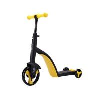 Tricicleta fara pedale Nadle 3 in 1 pentru copii Siegbert, maxim 40 kg, Galben/Negru