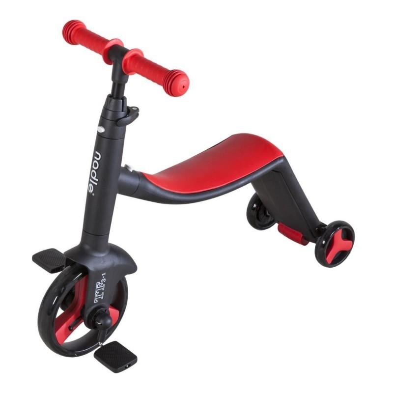 Tricicleta fara pedale Nadle 3 in 1 pentru copii Siegbert, maxim 40 kg, Rosu/Negru 2021 shopu.ro