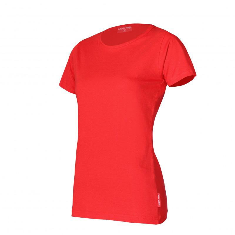 Tricou bumbac Dama Lahti Pro, marimea XL, rosu shopu.ro