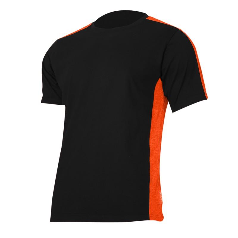 Tricou bumbac Lahti Pro, marimea M, negru/portocaliu 2021 shopu.ro