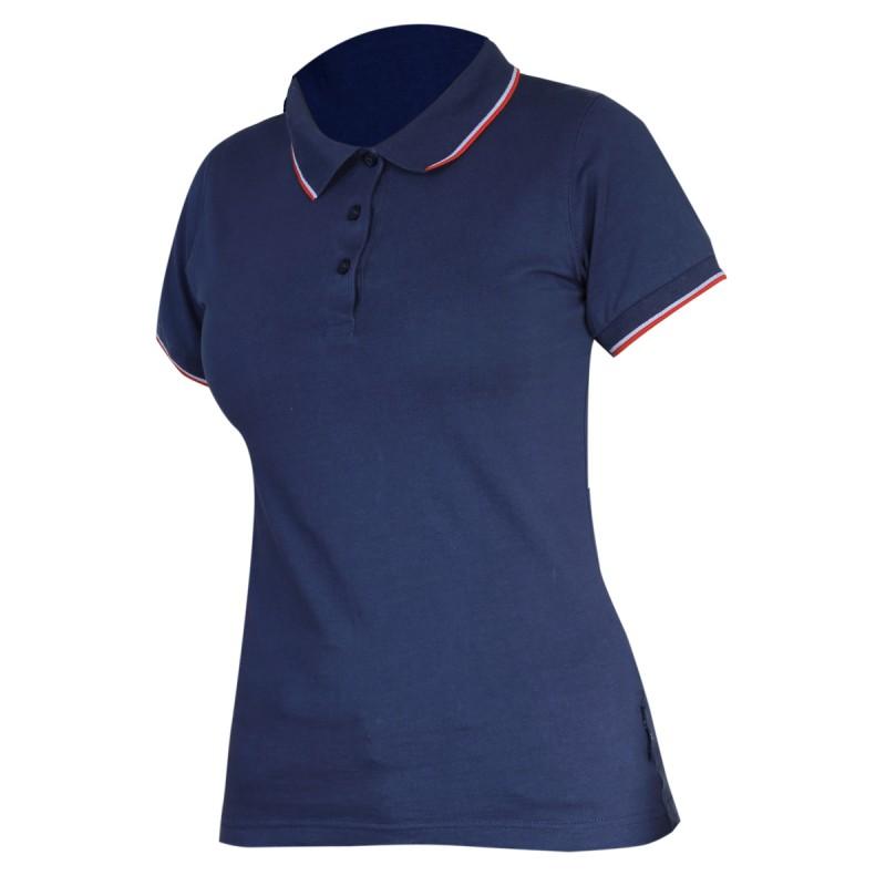 Tricou bumbac Polo Dama Lahti Pro, marimea S, albastru shopu.ro