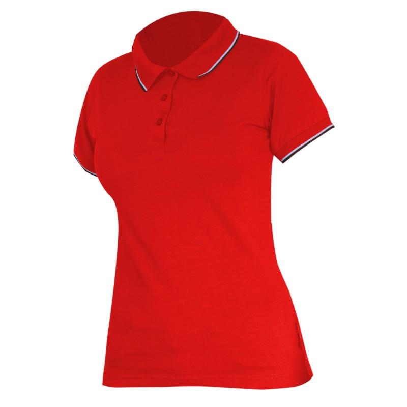Tricou bumbac Polo Dama Lahti Pro, marimea 3XL, rosu shopu.ro
