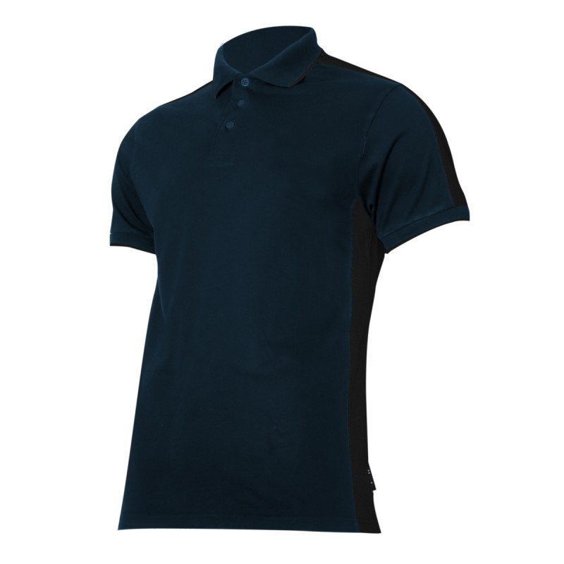 Tricou bumbac Polo Lahti Pro, marimea L, negru/albastru 2021 shopu.ro