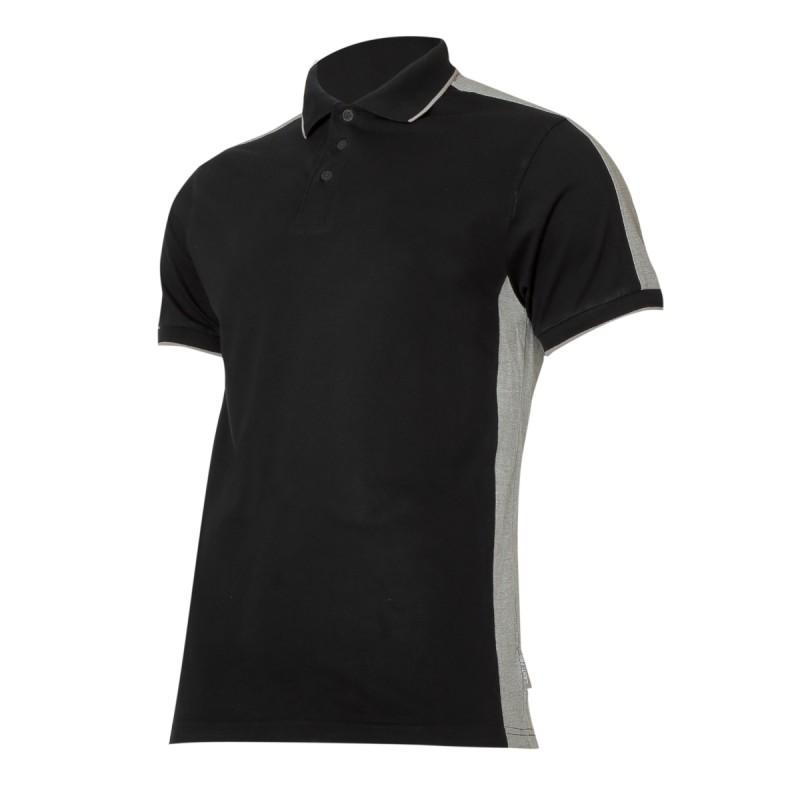 Tricou bumbac Polo Lahti Pro, marimea S, negru/gri shopu.ro
