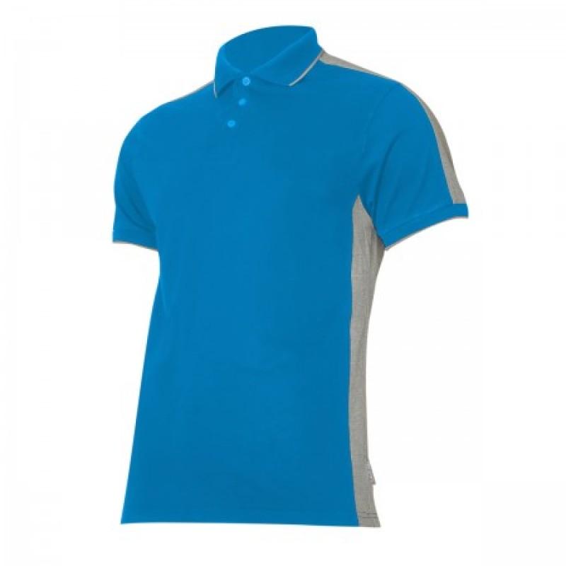 Tricou bumbac Polo Lahti Pro, marimea 2XL, albastru/gri 2021 shopu.ro
