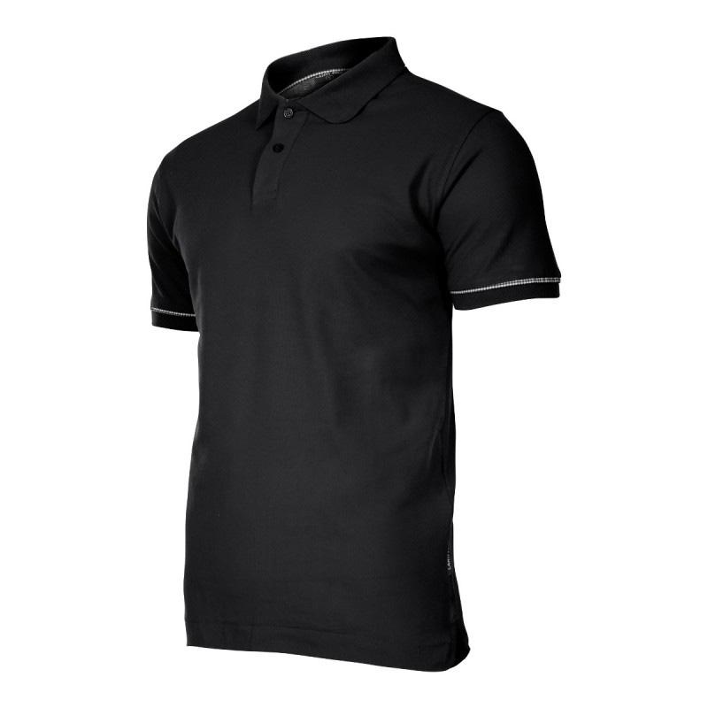 Tricou bumbac Polo Lahti Pro, marimea S, negru shopu.ro