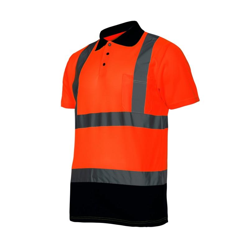 Tricou reflectorizant polo Lahti Pro, marimea L, portocaliu 2021 shopu.ro
