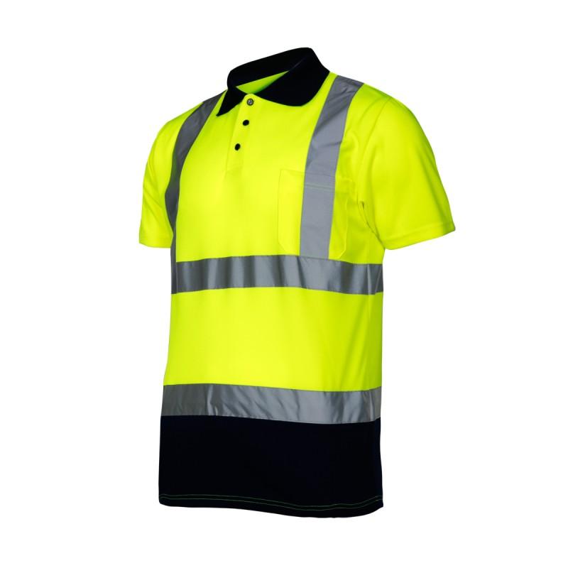 Tricou reflectorizant polo Lahti Pro, marimea 2XL, verde shopu.ro