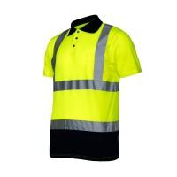 Tricou reflectorizant polo Lahti Pro, marimea M, verde