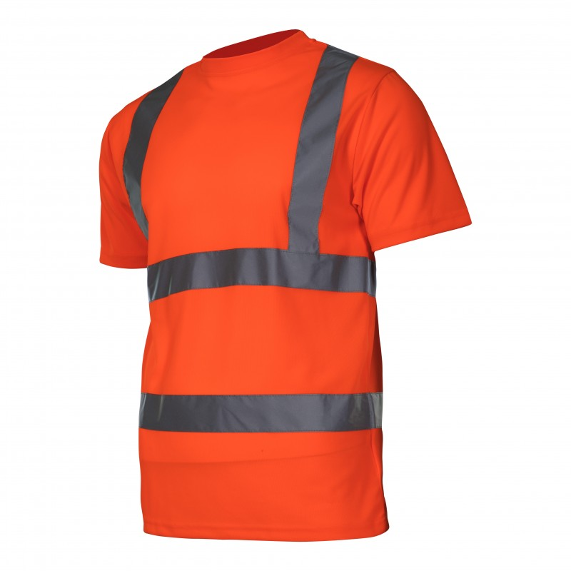 Tricou reflectorizant Lahti Pro, marimea M, portocaliu shopu.ro
