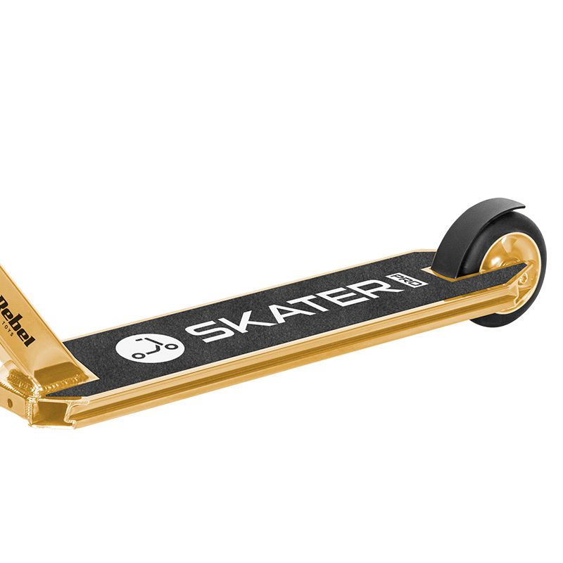 Trotineta Acrobatii Skater Pro Rebel, 670 x 550 x 880 mm, aluminiu, maxim 100 kg, 8 ani+, Auriu