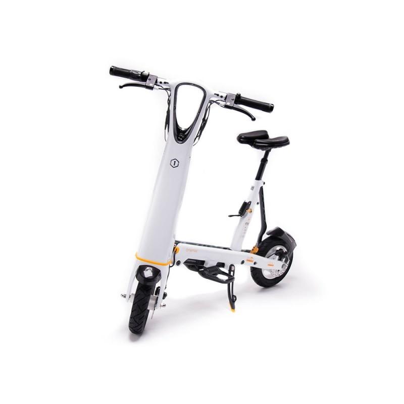 Trotineta Hallo City OneMile, 250 W, 25 km/h, autonomie 35 kg, maxim 120 kg, Alb 2021 shopu.ro