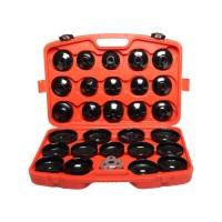 Trusa cheie filtru de ulei reglabil cu adaptoare, 30 piese/set
