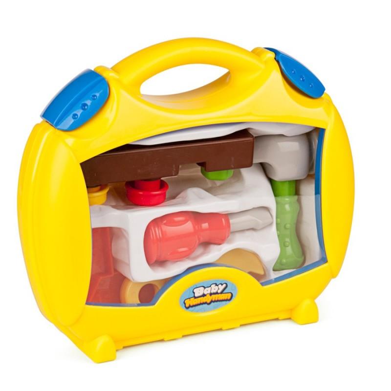 Trusa de unelte Baby Brico Miniland, 8 piese 2021 shopu.ro
