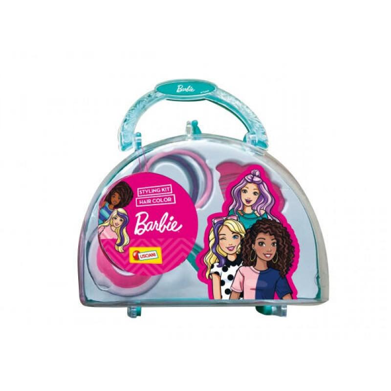 Set pentru coafat Barbie Lisciani, 14.7 x 12.5 x 6.5 cm, 5 ani+, Multicolor 2021 shopu.ro
